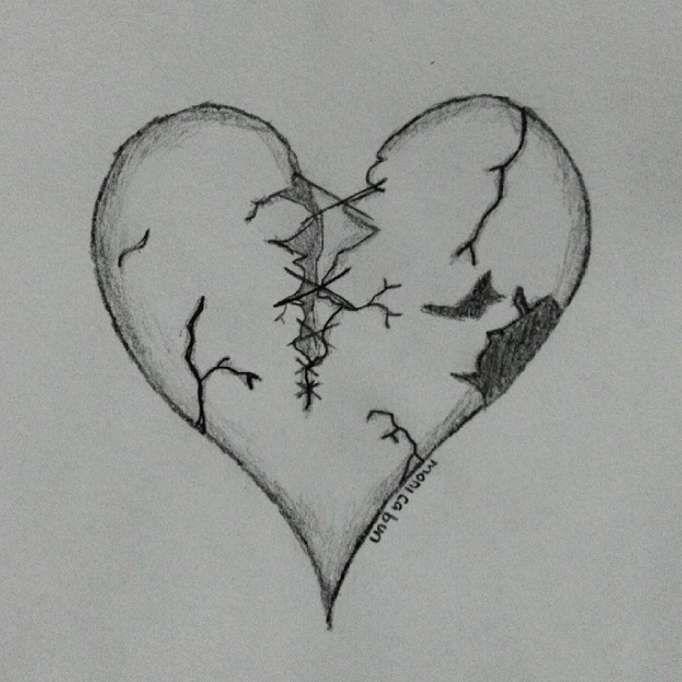 0cc988e32b69cb8638880eba3d4eb401 » Broken Sad Drawings Easy