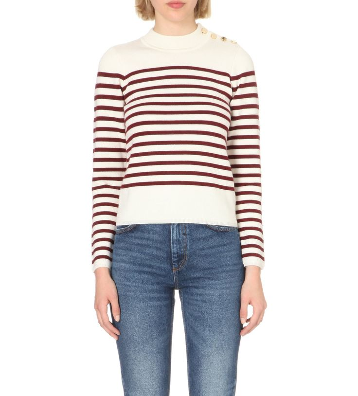 SANDRO - Striped wool-blend jumper | Selfridges.com