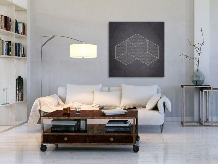 Obraz na płótnie - MINIMALIZM HIPSTER - 80x80 cm (05701) - Sztuka - DecoBazaar
