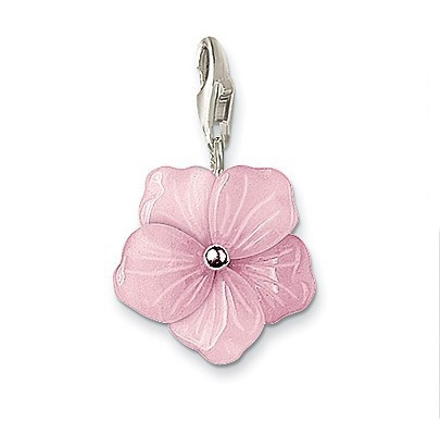Thomas Sabo Charm Rose Pink Quartz Flower Charm. Woweeee, that's beautiful! Need, need, need this!!!!