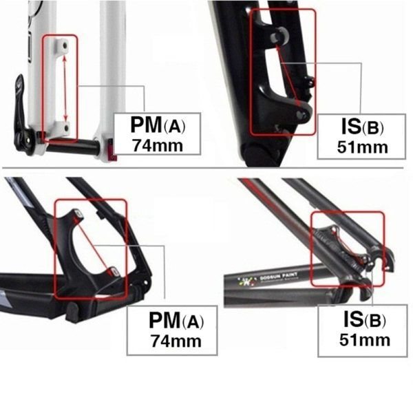"""Ultralight MTB Bike Bicycle Disc Brake Mount Adapter Rear IS to Post 8/""""//203mm"""