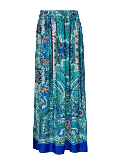 MANGO - Falda larga estampado paisley