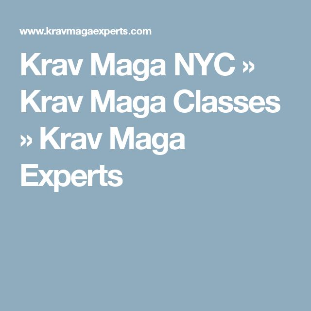 Krav Maga NYC » Krav Maga Classes » Krav Maga Experts