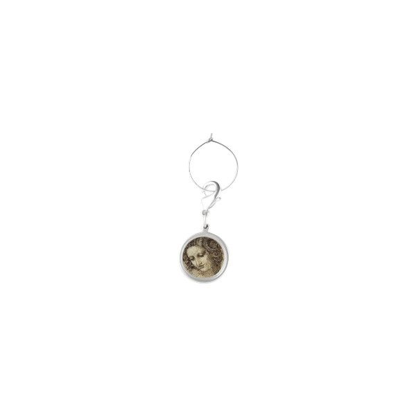 Mona Lisa Round Wine Charm ❤ liked on Polyvore featuring home, kitchen & dining and bar tools