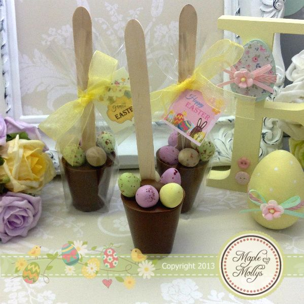 The 25 best easter hampers ideas on pinterest easter gift easter mini egg hot chocolate spoon click to enlarge negle Images