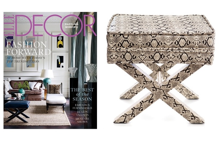 Faux Python Leather Dressing Table Stool As Featured By Elle Decor Magazine Courtesy Of InStyle DecorInterior Design InspirationDressing