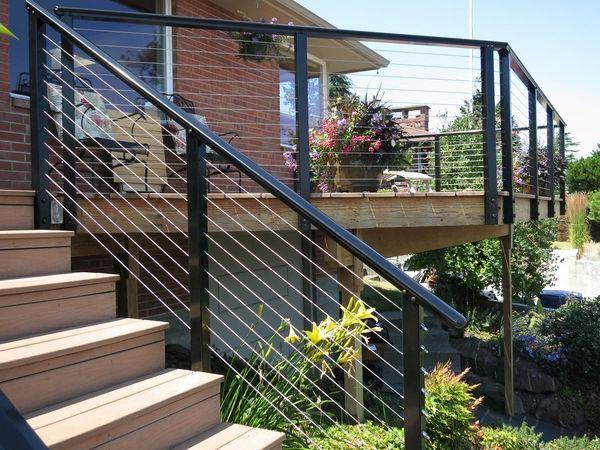 Terrassen Gelander Design. die besten 25+ aluminiumgeländer ideen ...