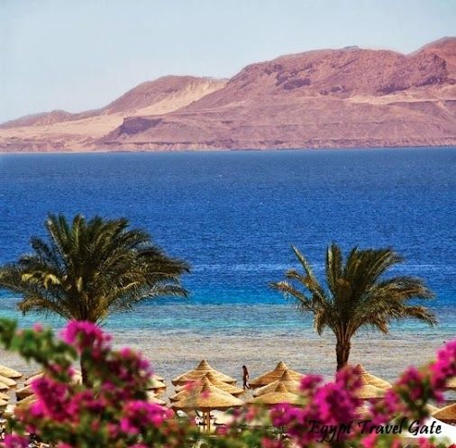 Travel to Sharm El Sheikh Tours Packages. Red Sea view from Sharm El Sheikh, Sinai, Egypt.