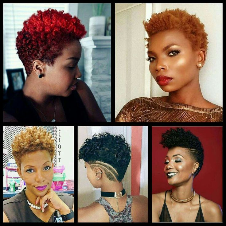 Short Natural Hair Styles With Color For Black Women