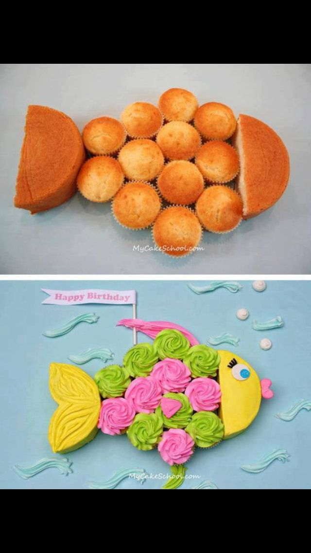 Fishy cupcake cake! So cute