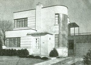 Image detail for -Vintage Art Deco House Home Plans Book 1940's Early Modern Bungalow- There is a house in Nashville similar. On a street with traditional homes. Luckily someone saved it. The other one I remember was torn down.While not my taste I still find it fun.