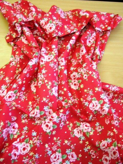 red chintz fabric