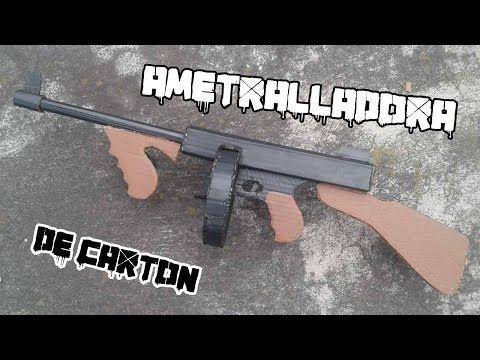 ametralladora Tommy Thompson de madera (crea tu efecto) - YouTube