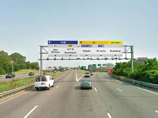 redesign of road signs integrated with wireless transmitters