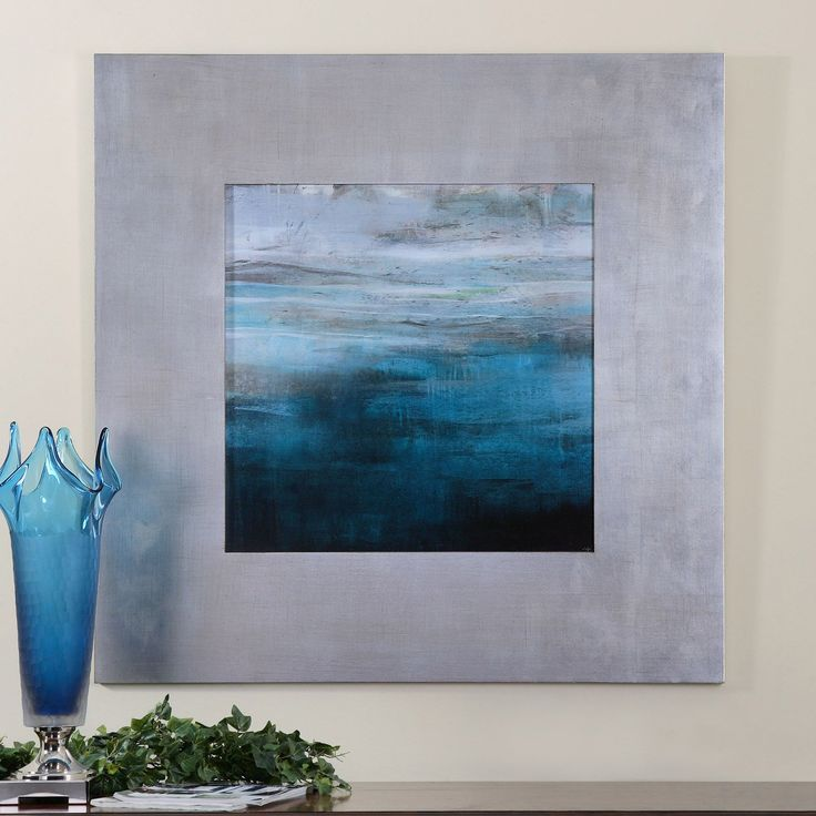 Uttermost Cancun Modern Framed Art - 40W x 40H in. - The serene and soothing Uttermost Cancun Modern Framed Art - 40W x 40H in. is named for its recollection of the bright waters of a dream beach vacatio...