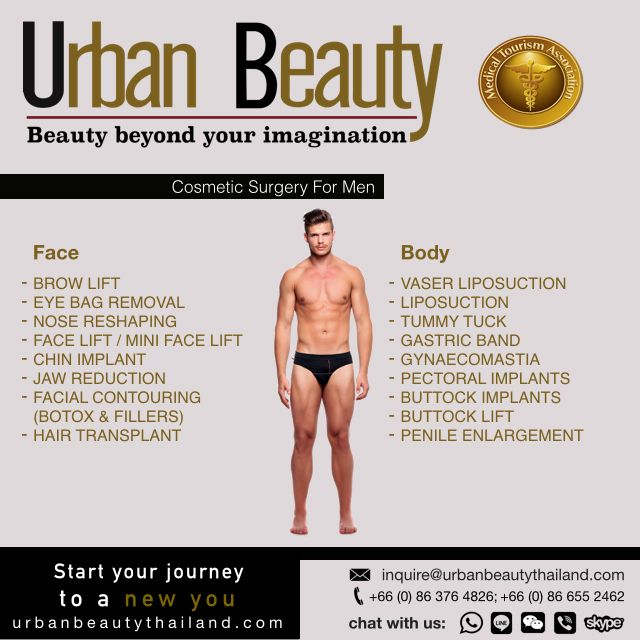 Urban Beauty Thailand offers Men of all ages to Slim down, get more Definition & create that washboard Six-Pack Abs Combo of treatments. Banish Moobs (Man Boobs) with Male Breast Reduction & create that Rock-Hard Six-Pack Abs with Vaser Hi-Def with Top Doctors at the Best Price.
