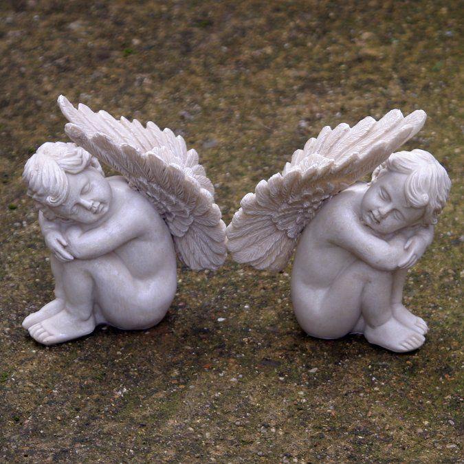 cherubs | Pair Of Sleeping Cherubs - Garden Cherub Ornaments
