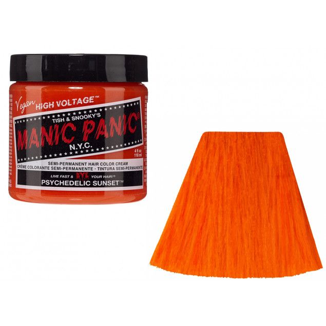 Tinte semipermanente Manic Panic Classic Psychedelic Sunset #vegan #alternative #fantasy #hairdye #beauty