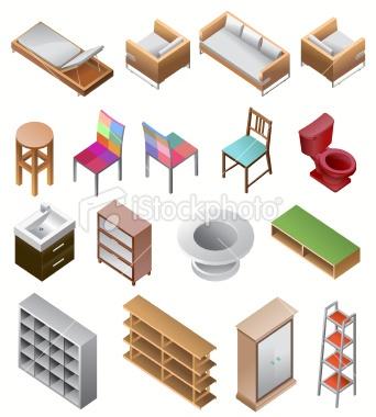 http://www.istockphoto.com/stock-illustration-23422307-set-of-furniture-isometric.php