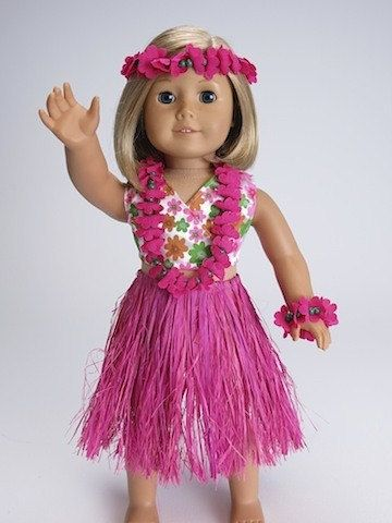 6 Piece Hawaiian Hot Pink Luau Costume for von TooCuteCreations2007