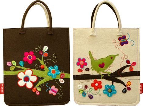 Felt bags from Mijnes
