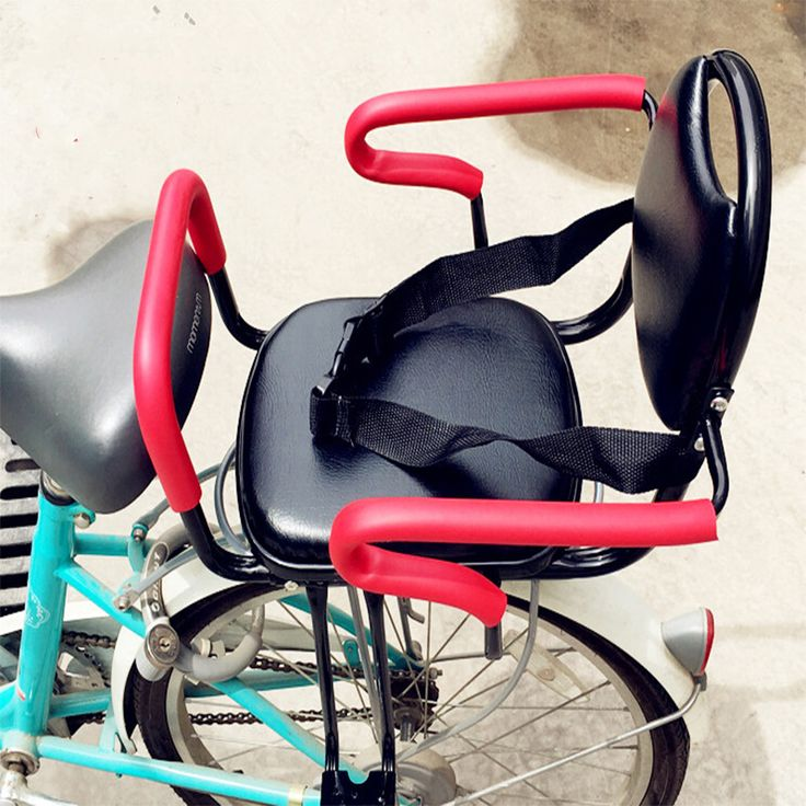 Bicycle child seat after electric bicycle rear seat bicycle folding baby safety seat armrest kids folding chair