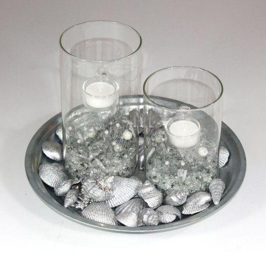 Dekoration - Sølv med T-Light stager | mystone.dk