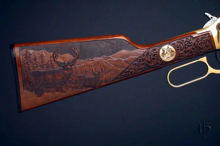 gunstock Relief Carving | Custom Gunstock Carving | Carving Gun Stocks