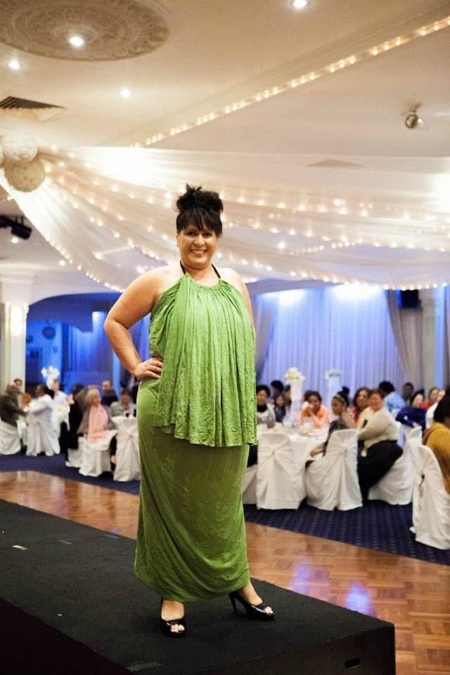 Halter droop dress with fringe. Plus size Model Sheryl Temu