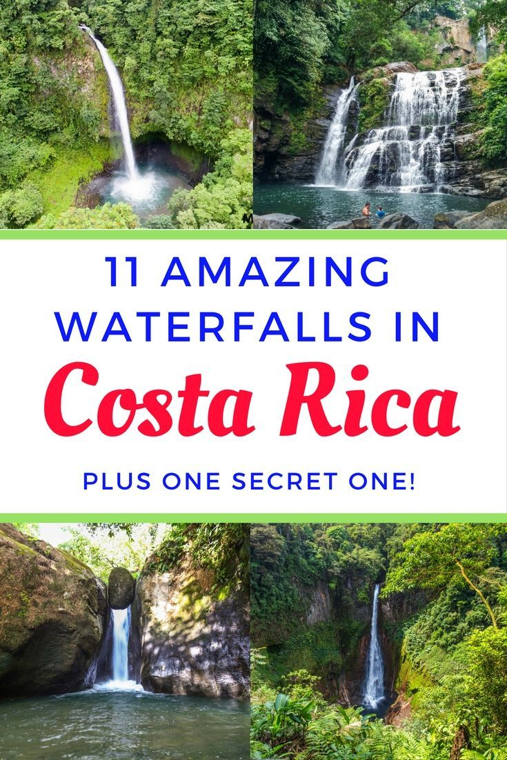 11 wonderful waterfalls in Costa Rica (plus one secret one!) Also includes i visitor's information, photos and maps of the waterfalls. Click through to read: https://mytanfeet.com/activities/waterfalls-costa-rica/  Costa Rica | Costa Rica waterfalls | Costa Rica travel blog