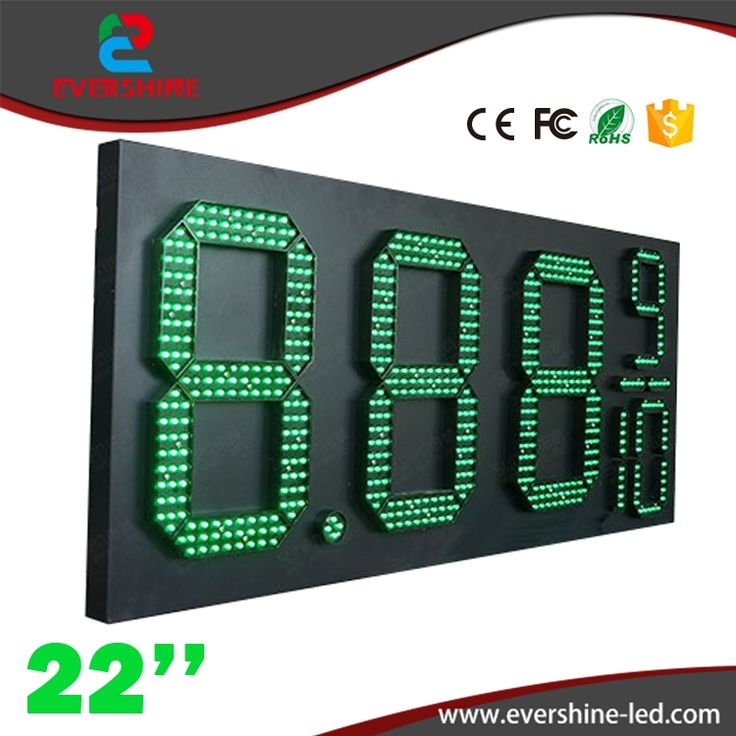 360.00$  Watch now - http://alix7o.worldwells.pw/go.php?t=32759165049 - 22'' 8889/10 green led outdoor waterproof led gas station price signs board\ oil price display led gas petrol price oil gas