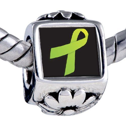 Pugster Bead Lime Green Ribbon Awareness Beads Fits Pandora Bracelet Pugster. $11.24. Fit Pandora, Biagi, and Chamilia Charm Bead Bracelets. Hole size is approximately 4.8 to 5mm. Bracelet sold separately. Unthreaded European story bracelet design. It's the photo on the flower charm. Save 10% Off!