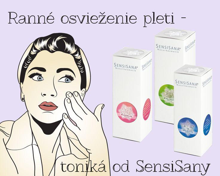SensiSana Pleťové toniká: - Camellia pre suchú, zrelú pleť - Maritime pre citlivú, alergickú pleť - Calamus pre zmiešanú, nečistú pleť; www.plumeria.sk