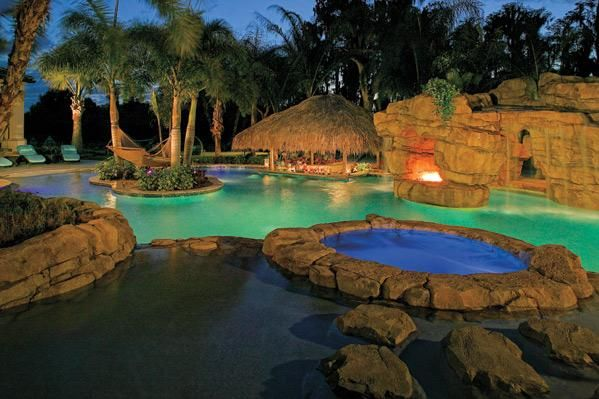 Lagoon Pool with Tikki hut, waterfall, spa and hammock.      Google Image Result for http://www.floridadesign.com/uploads/clients/pools_southern-pool-designs-inc_sanford_fl_713l.jpg