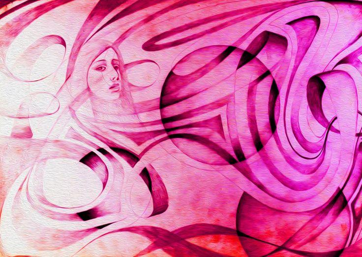 Galaxy Girl by Simon Knott #fantasyart Artist Website *** simbird.com