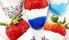 Dipped strawberries or cherries