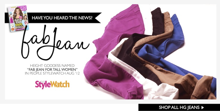 HEIGHT GODDESS named Fab Jean for Tall Women in People StyleWatch! #talljeansA Mini-Saia Jeans, Tall Women, Heights Goddesses, Fab Jeans, People Stylewatch