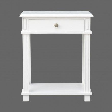 French Provincial Bedside Table - White