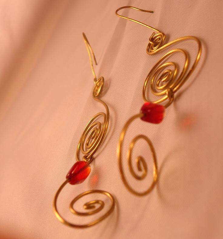 Orecchini in ottone handmade  #handmade #earrings #accessori