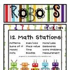 This Robot Unit is created with Debbie Diller's Math Stations in mind.   Inside you will find 12 math stations ready to be copied (in colored ink o...