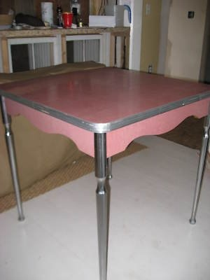 Old Pink Kitchen Table