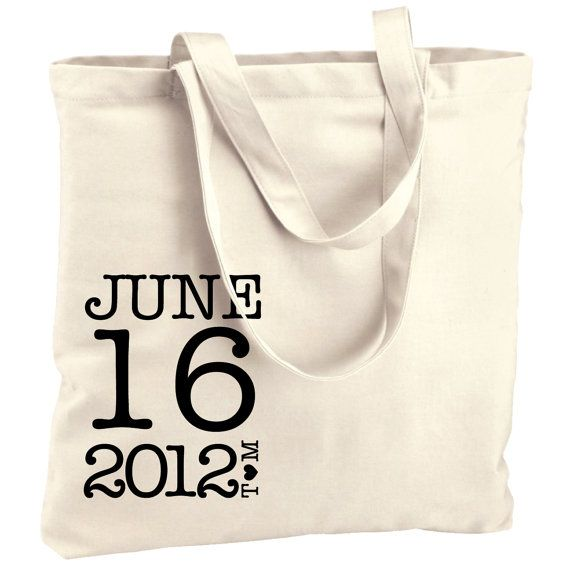 10 welcome wedding bags Typewriter Totes favors for by repchi, $50.00
