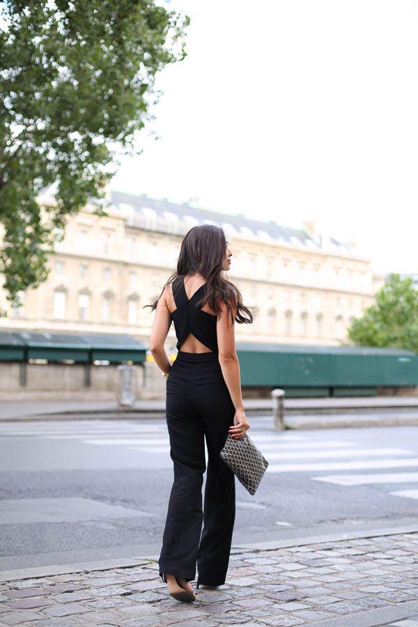 Black Jumpsuit Along La Seine - ALC jumpsuit // Robert Lee Morris necklace Stuart Weitzman heels // AV Max cuff Goyard clutch // Brandy Pham ring Friday, July 31, 2015