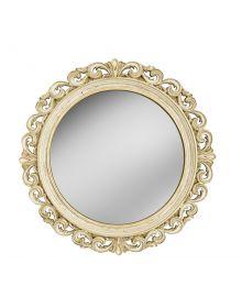 Венецианское интерьерное зеркало в резном багете Слоновая кость Золото Патина Кракелюр