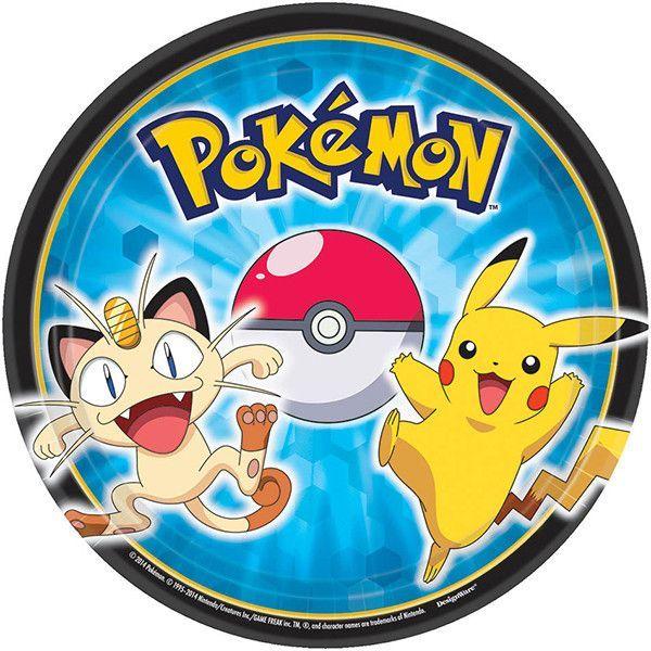 Pokemon - Pikachu & Friends Dessert Plates [8ct]