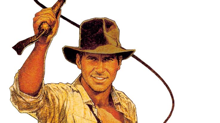 young cartoon Harrison Ford with a whip in that order