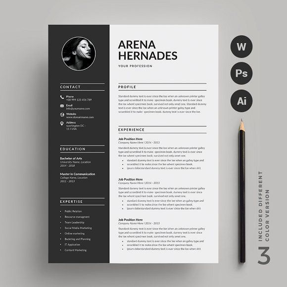Epingle Sur Resume Design