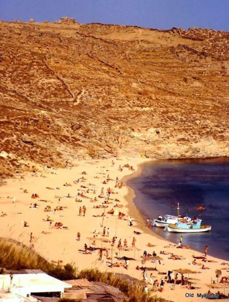 #Paradise #beach ,1979 by P.Ramby #Mykonos .... Happy Valentine's Day!