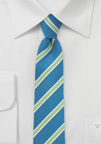 Businesskrawatte schlank mattstaubgrün staubgrün