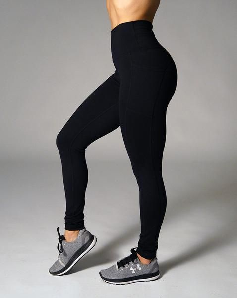 We created the Luna Leggings to help you reach for the moon and fall among the stars. The high waist is designed to support your curves while the pockets let you store your go to workout essentials (phone, wallet, keys, etc).     Fabrics: Nylon, Spandex      Size   Inseam   Pant Size    XS 27.5 in 00-2   S 27.5 in 4-6   M 27.5 in 6-8   L 27.5 in 8-10   XL 27.5 in 10-12